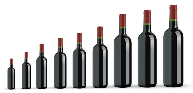 Weinflaschen Grössen